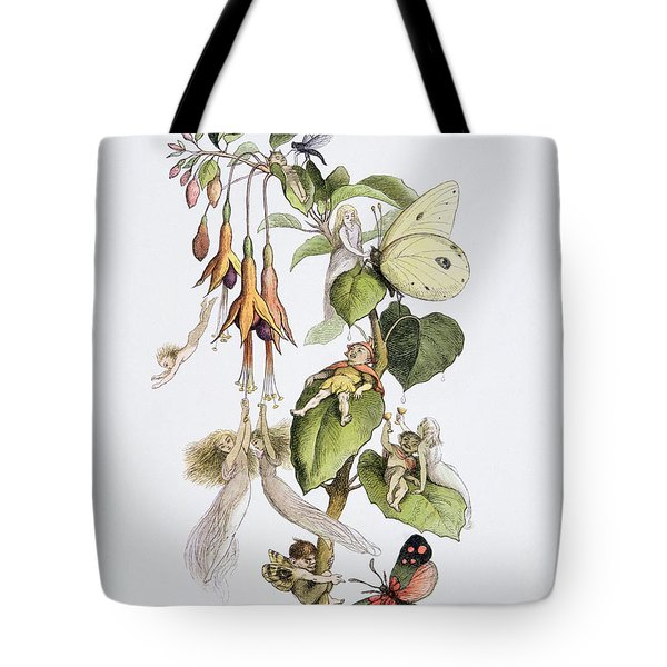 Feasting And Fun Among The Fuschias Tote Bag by Richard Doyle