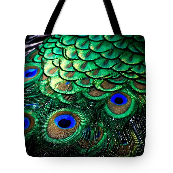 Feather Abstract Tote Bag by Karen Wiles