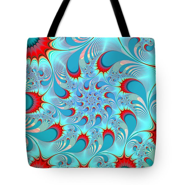 Feathered Coil Tote Bag by Kevin Trow
