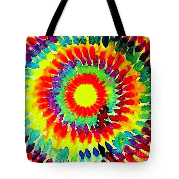 Feathered Sunshine Tote Bag by Hazel Holland