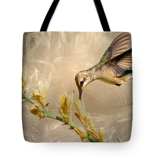 Feathers Tote Bag by Donna Kennedy