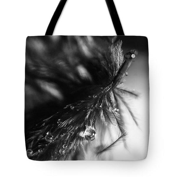 Feathery Drop Tote Bag by Lauri Novak