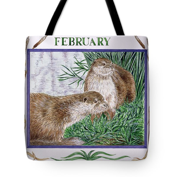 February Wc On Paper Tote Bag by Catherine Bradbury