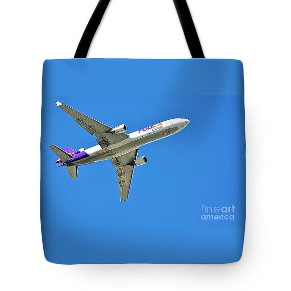 Fedex At Work Tote Bag by Kaye Menner