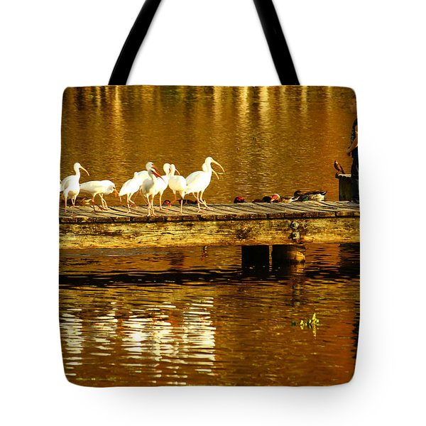 Feed Us Tote Bag by Marvin Spates