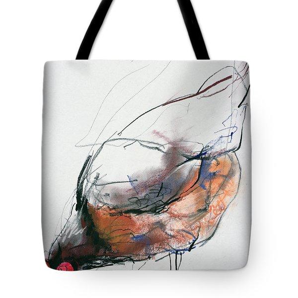 Feeding Hen, Trasierra Tote Bag by Mark Adlington