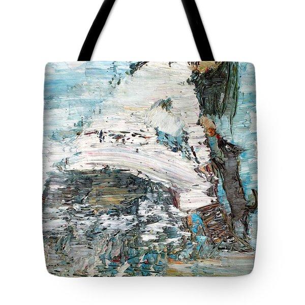Feeding Willy Tote Bag by Fabrizio Cassetta