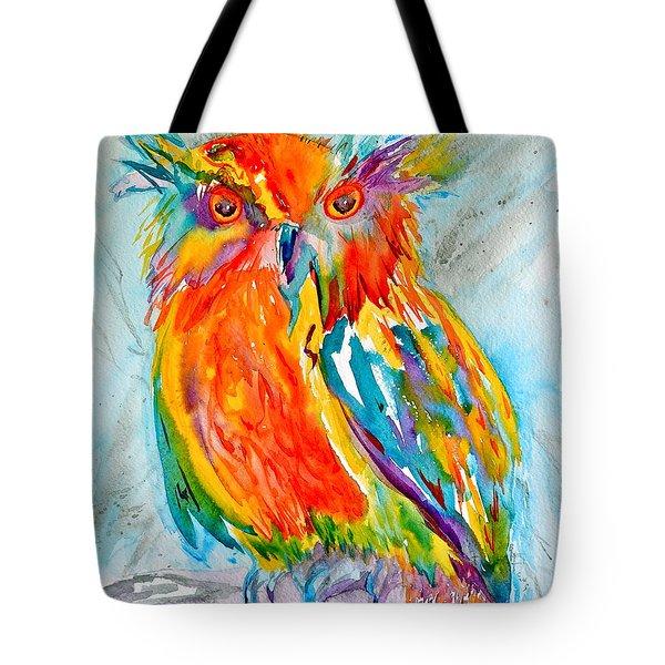 Feeling Owlright Tote Bag by Beverley Harper Tinsley