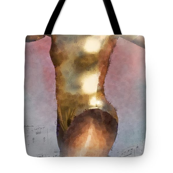Feeling The Beat Tote Bag by Betty LaRue