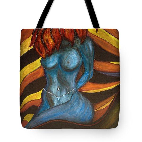 Feeling The Blues... Tote Bag by Jolanta Anna Karolska
