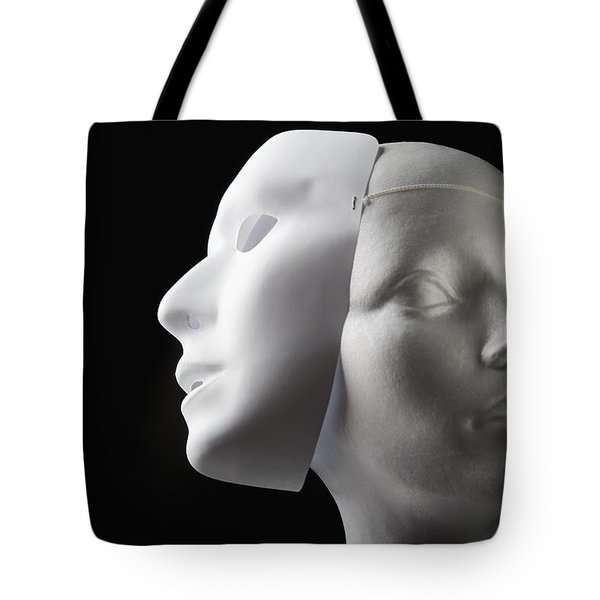Female Mannequin And Mask Tote Bag by Kelly Redinger