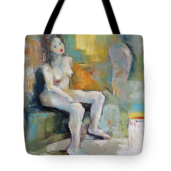Female Nude 2 Tote Bag by Becky Kim