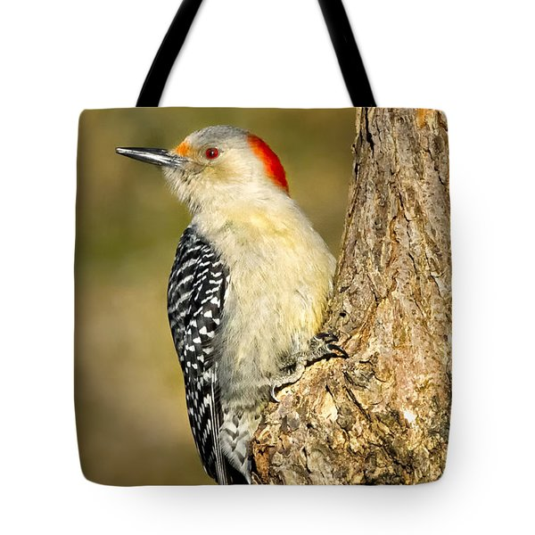 Female Red-bellied Woodpecker Tote Bag by Bill Wakeley