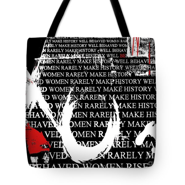 Feminist Hugs And Kisses Tote Bag by Anahi DeCanio