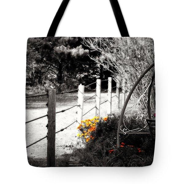 Fence Near The Garden Tote Bag by Julie Hamilton