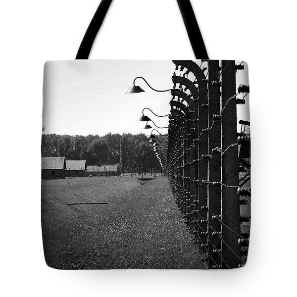Fence Of Death Tote Bag by Mountain Dreams