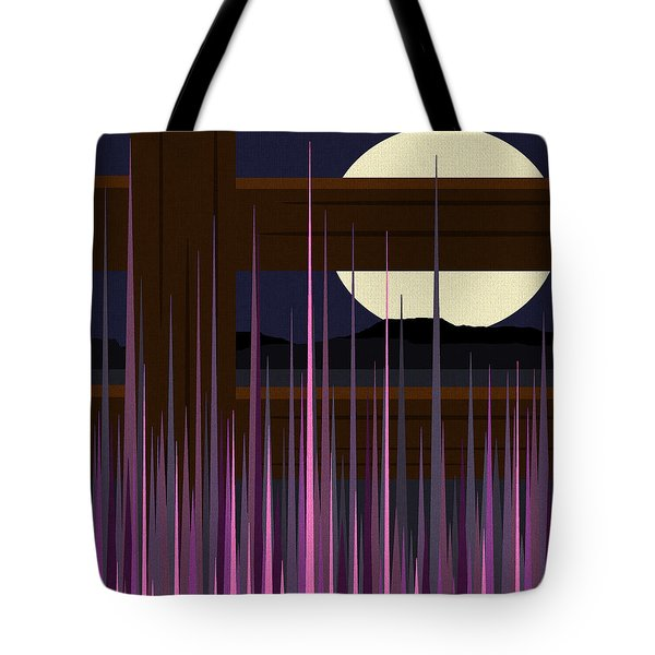 Fenced Field  Tote Bag by Val Arie