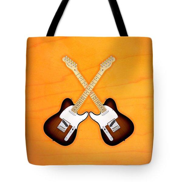 Fender Telecaster Sunburst Tote Bag by Doron Mafdoos