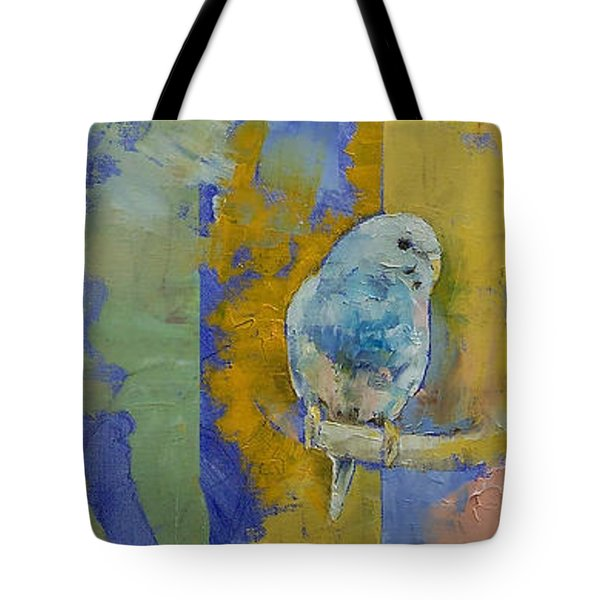 Feng Shui Parakeets Tote Bag by Michael Creese