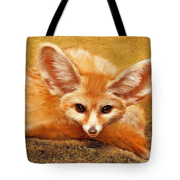 Fennec Fox Tote Bag by Jane Schnetlage