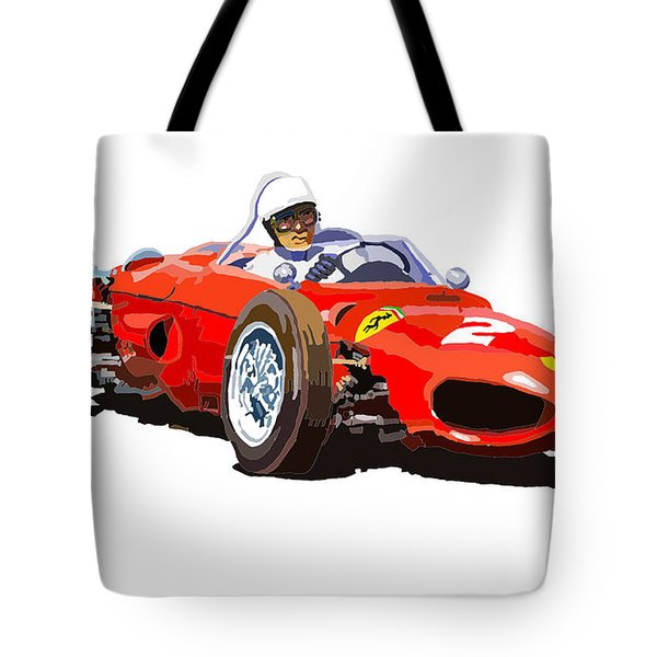 Ferrari Dino 156 1962  Tote Bag by Yuriy  Shevchuk