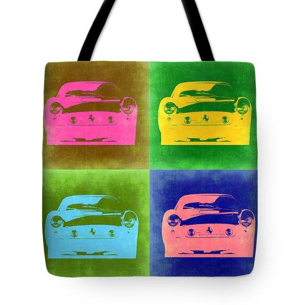 Ferrari Front Pop Art 3 Tote Bag by Naxart Studio
