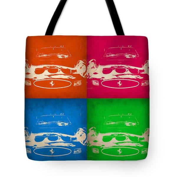 Ferrari Front Pop Art 4 Tote Bag by Naxart Studio