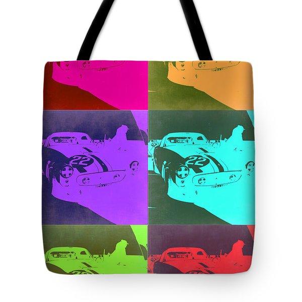 Ferrari Gto Pop Art 3 Tote Bag by Naxart Studio