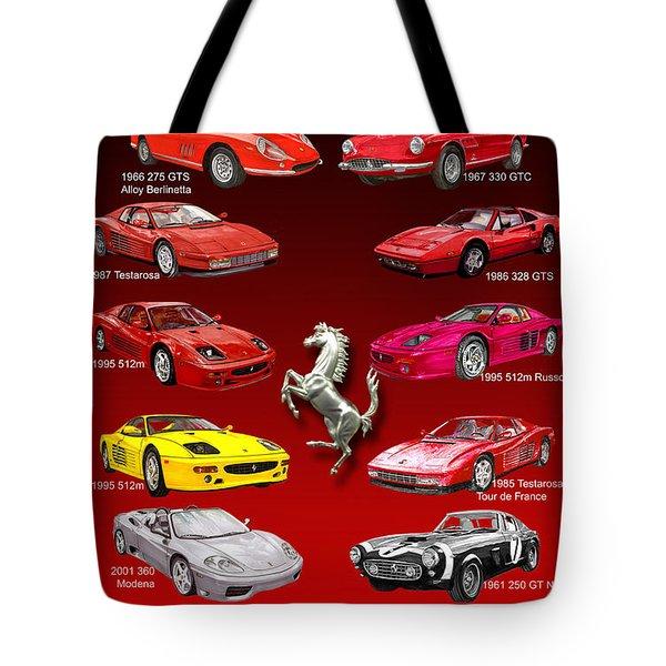 FERRARI POSTER ART Tote Bag by Jack Pumphrey