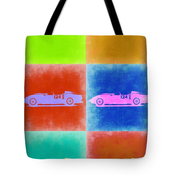 Ferrari Testarossa Pop Art 2 Tote Bag by Naxart Studio