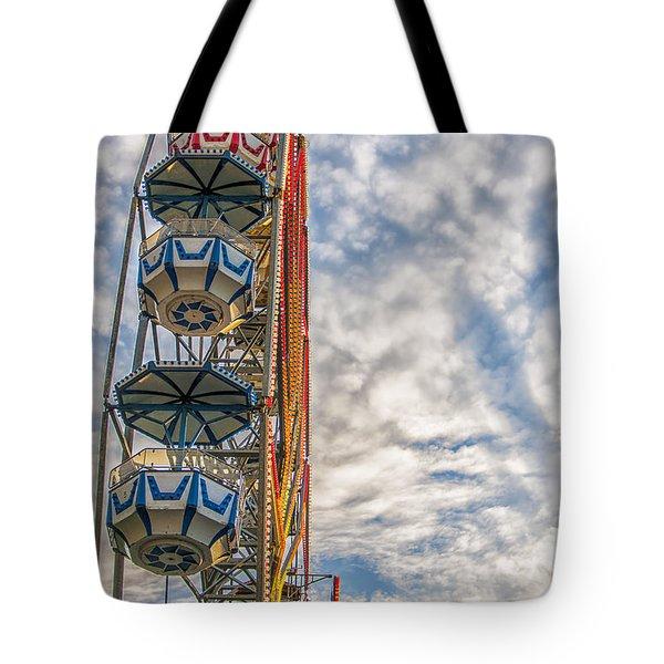 Ferris Wheel Tote Bag by Antony McAulay