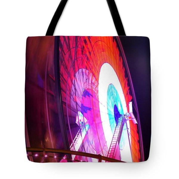 Ferris Wheel Tote Bag by Gandz Photography