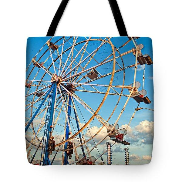 Ferris Wheel Tote Bag by Steve Harrington