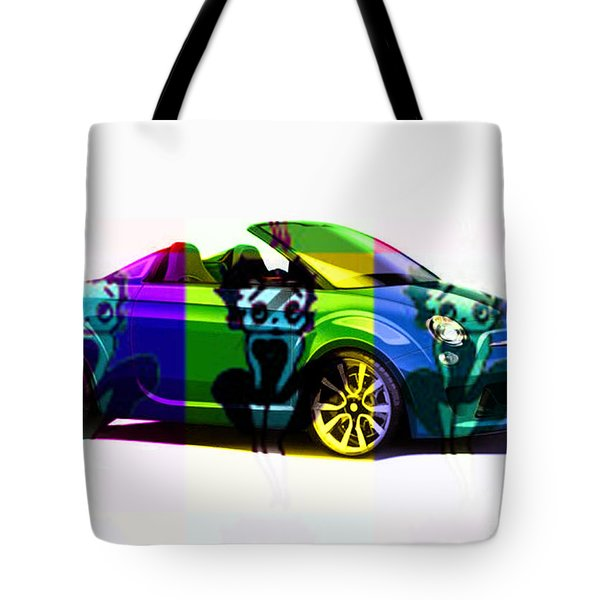 Fiat And Betty Boop Tote Bag by Marvin Blaine