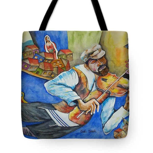 Fiddler On The Roofs Tote Bag by Guri Stark