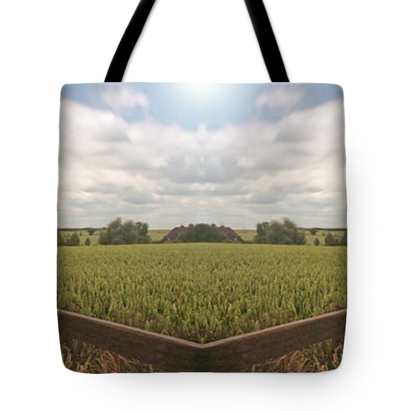 Field And Sky, South England Tote Bag by Vast Photography