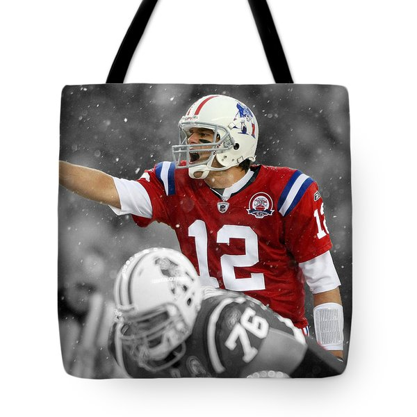 Field General Tom Brady  Tote Bag by Brian Reaves