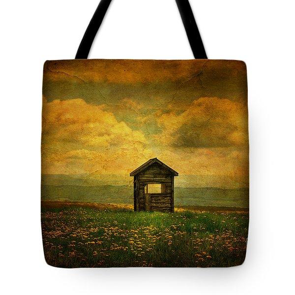 Field Of Dandelions Tote Bag by Lois Bryan