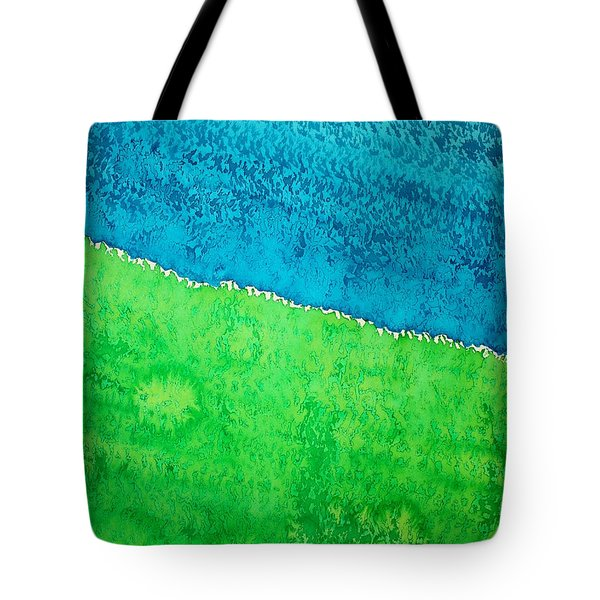 Field Of Dreams Original Painting Tote Bag by Sol Luckman