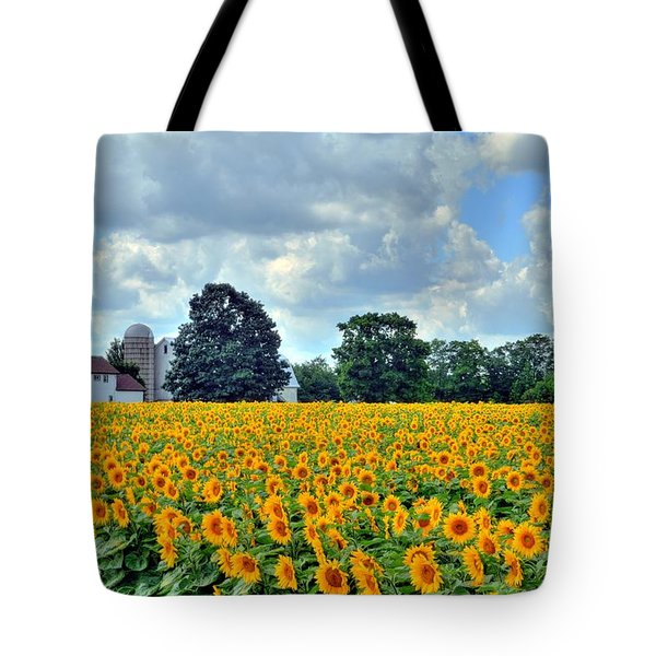 Field Of Sunflowers Tote Bag by Kathleen Struckle