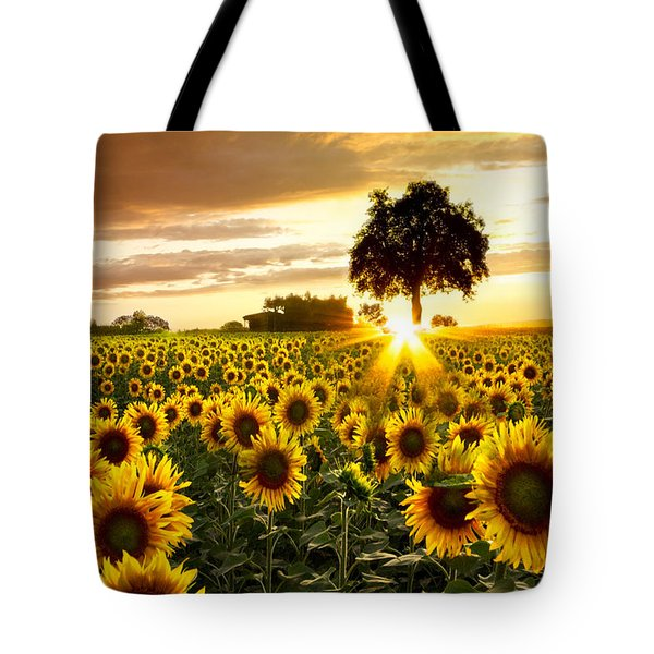 Fields of Gold Tote Bag by Debra and Dave Vanderlaan