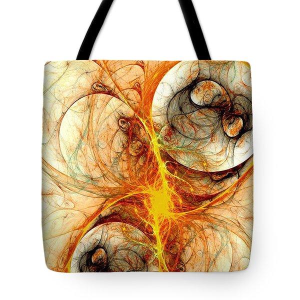Fiery Birth Tote Bag by Anastasiya Malakhova