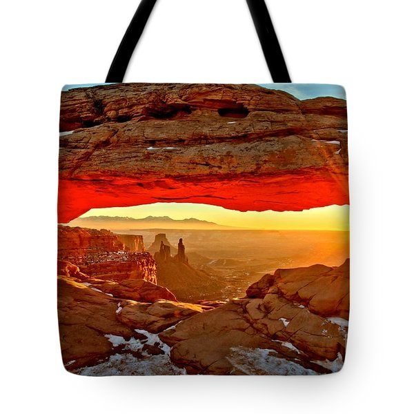 Fiery Morning Tote Bag by Adam Jewell