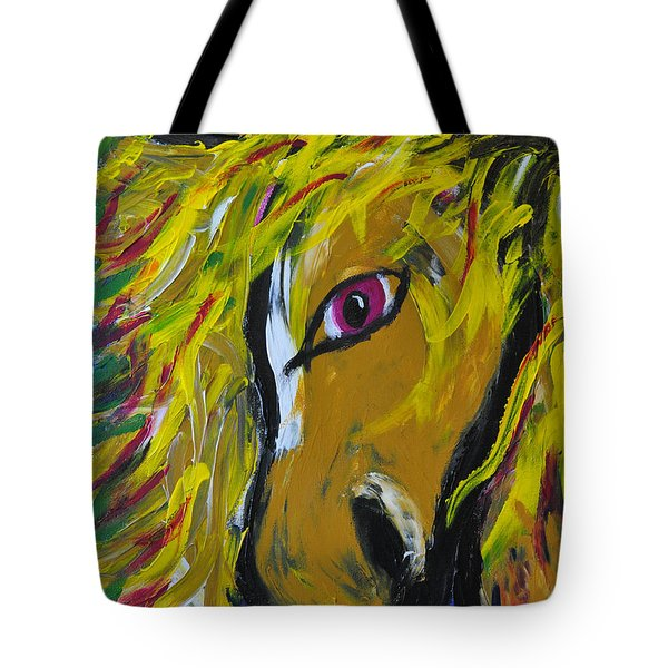 Fiery Steed Tote Bag by JAMART Photography