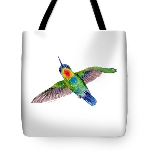 Fiery-throated Hummingbird Tote Bag by Amy Kirkpatrick