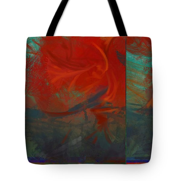 Fiery Whirlwind Onset Tote Bag by CR Leyland