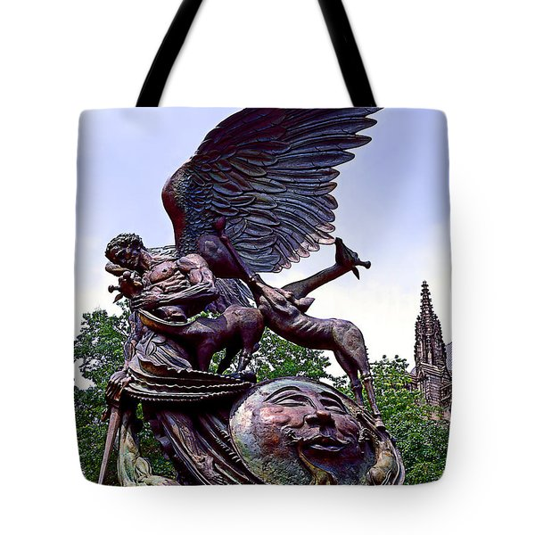 Fighting Angel Tote Bag by Terry Reynoldson