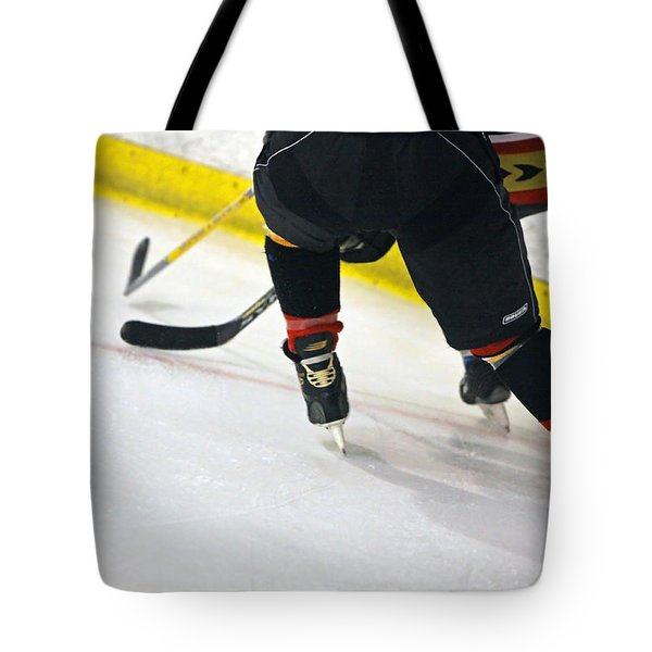 Fighting For The Puck Tote Bag by Shoal Hollingsworth