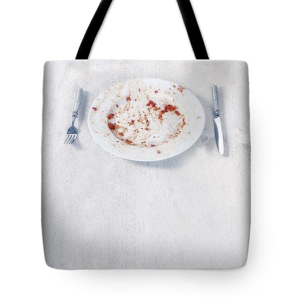 Finished Plate Tote Bag by Joana Kruse
