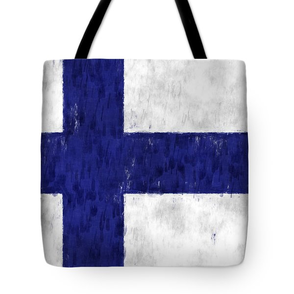 Finland Flag Tote Bag by World Art Prints And Designs